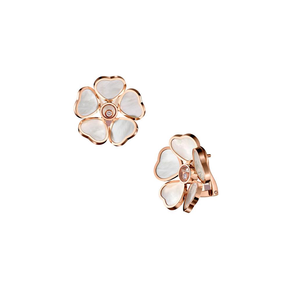 Earrings Chopard Happy Hearts