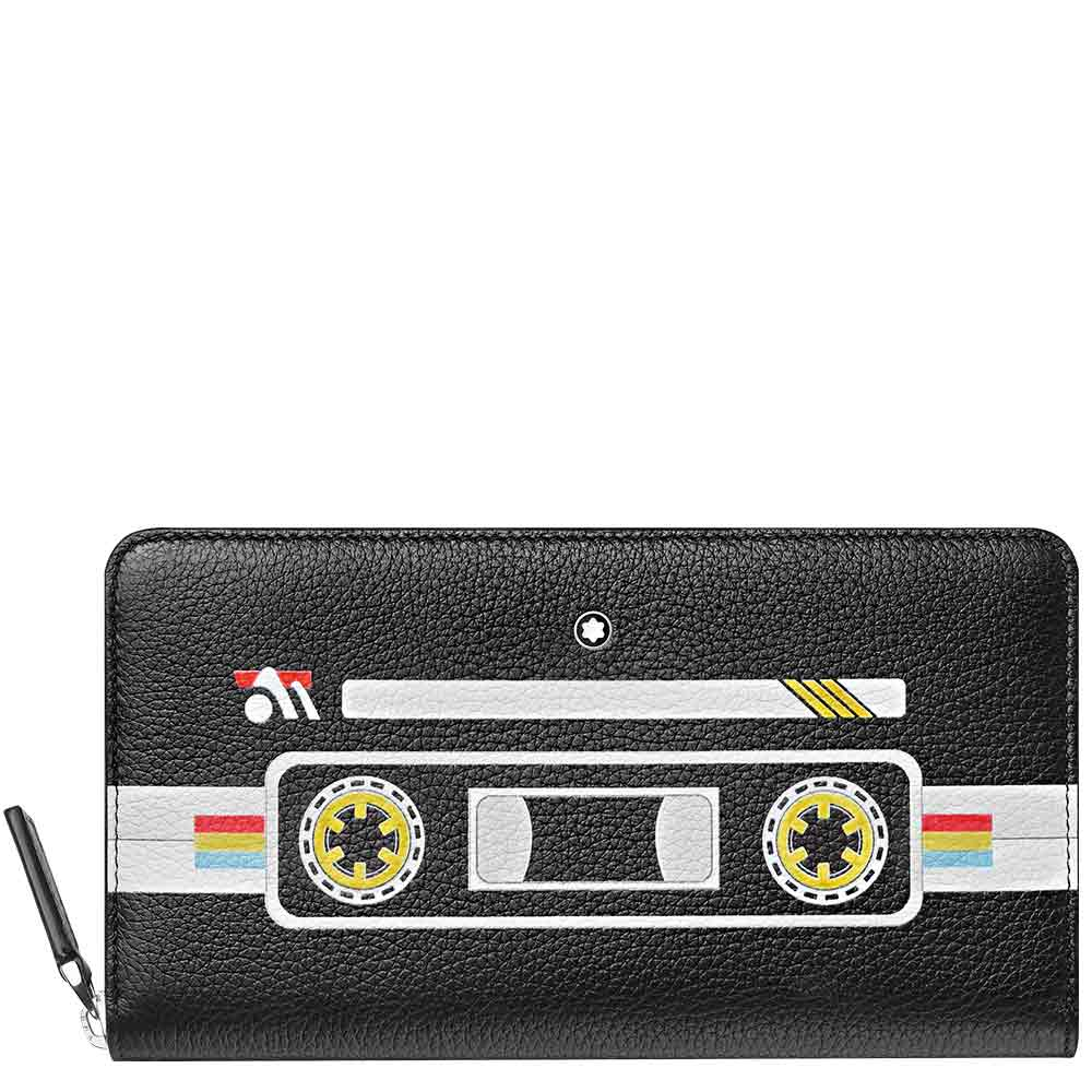 Wallet 12 cc Montblanc Meisterstück Soft Grain with Zip Mix Tapes